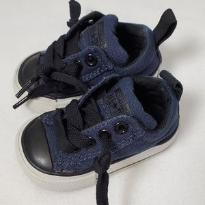 Infant size 2 black and navy blue Converse